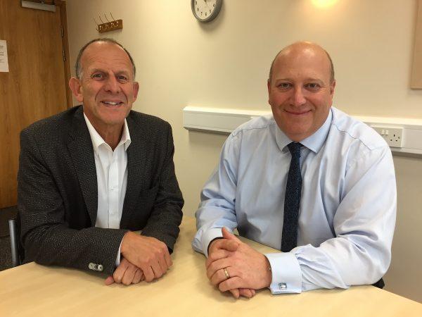 Mark Adlestone OBE DL, Chairman (L) with Mark Cunningham CEO